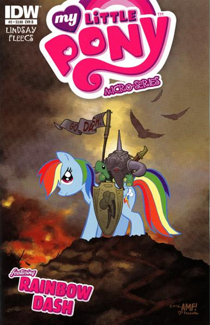 My Little Pony Micro-Series Featuring Rainbow Dash Comic Book #2 [Cover B]