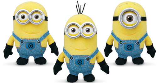 Despicable Me 2 Minions 5-Inch Plush 3-Pack