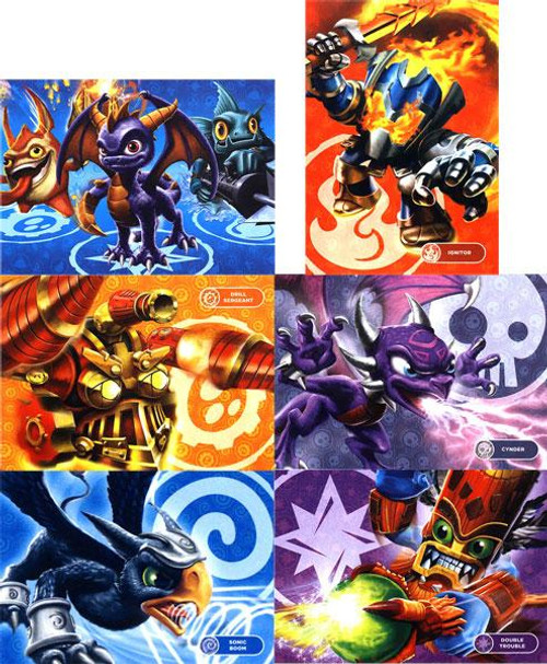 50-Piece Puzzles Skylanders Giants Set of all 6 Puzzles