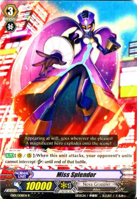 Cardfight Vanguard Comic Style Vol. 1 RR Rare Miss Splendour EB01-008
