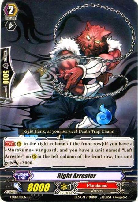 Cardfight Vanguard Comic Style Vol. 1 Common Right Arrester EB01-028EN