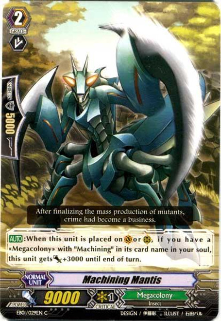 Cardfight Vanguard Comic Style Vol. 1 Common Machining Mantis EB01-029EN
