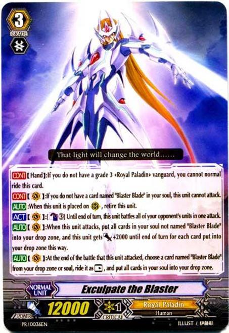 Cardfight Vanguard Eclipse of Illusionary Shadows Promo Exculpate the Blaster PR-0036EN