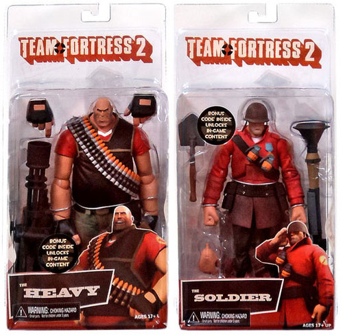 NECA Team Fortress 2 RED Series 2 Set of 2 Action Figures