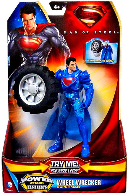 Man of Steel Power Attack Deluxe Superman Action Figure [Wheel Wrecker]