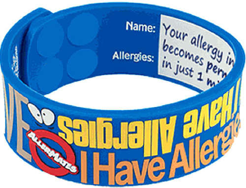 AllerMates Allergy Awareness I Have Allergies Wristband