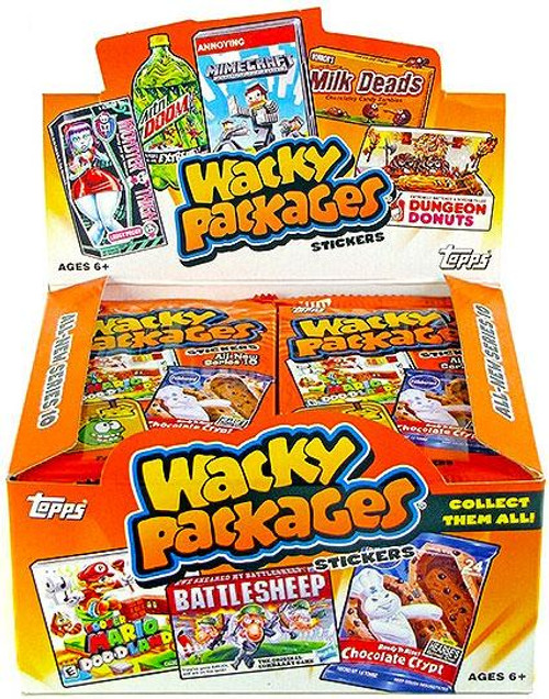 Wacky Packages Series 10 Trading Card Sticker Box