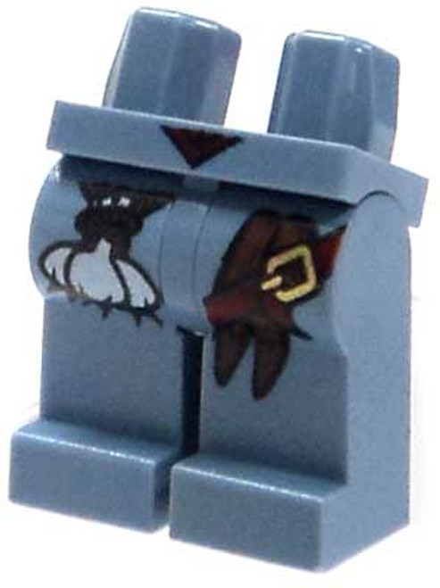 LEGO Monster Fighters Minifigure Parts Sand Blue Hips & Legs with Garlic, Stakes & Buckle Loose Legs [Loose]