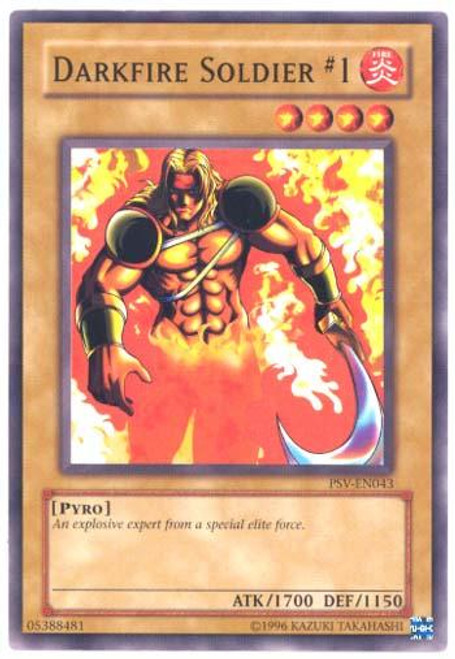YuGiOh Pharaoh's Servant Common Darkfire Soldier #1 PSV-043