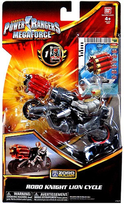 Power Rangers Megaforce Zord Builder Robo Knight Lion Cycle Action Figure