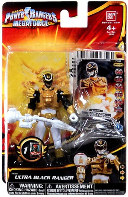 Power Rangers Megaforce Ultra Black Ranger Action Figure