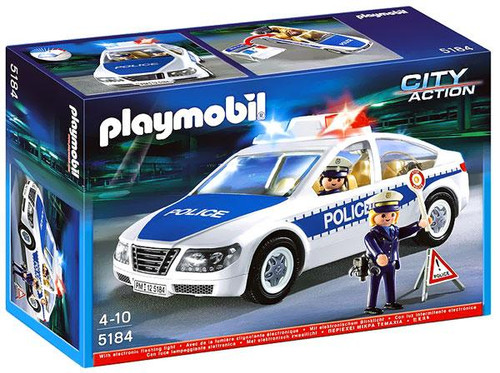 Playmobil City Action Police Car & Flashing Light Set #5184