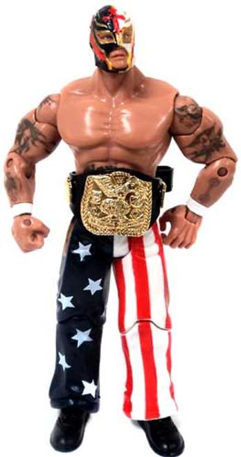 WWE Wrestling Loose Stars & Stripes Rey Mysterio Action Figure [Loose]