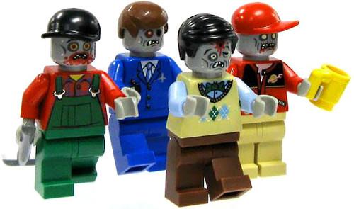 LEGO Loose 1 Single Zombie Minifigure [Random, Past Life Accessory]