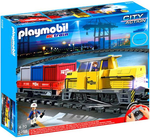 Playmobil City Action RC Freight Train Set #5258