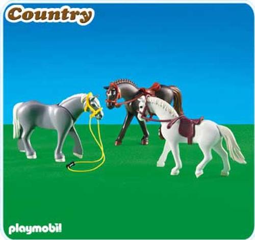 Playmobil Country 3 Horses II Set #6257