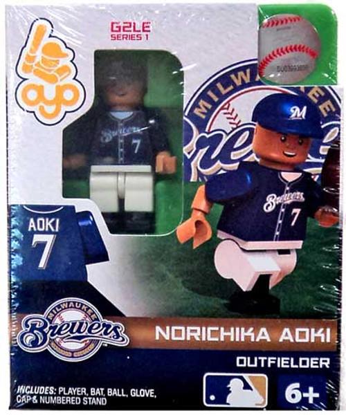 Milwaukee Brewers MLB Generation 2 Series 1 Norichika Adki Minifigure