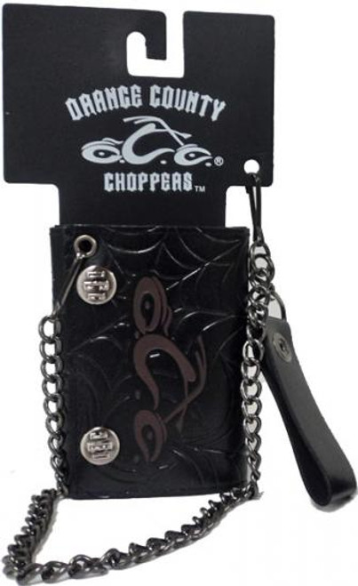 Orange County Choppers Leather Chain Wallet [Maroon]