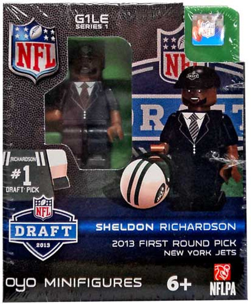 New York Jets NFL 2013 Draft First Round Picks Sheldon Richardson Minifigure