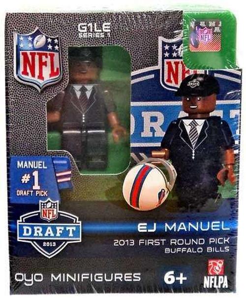 Buffalo Bills NFL 2013 Draft First Round Picks EJ Emanuel Minifigure