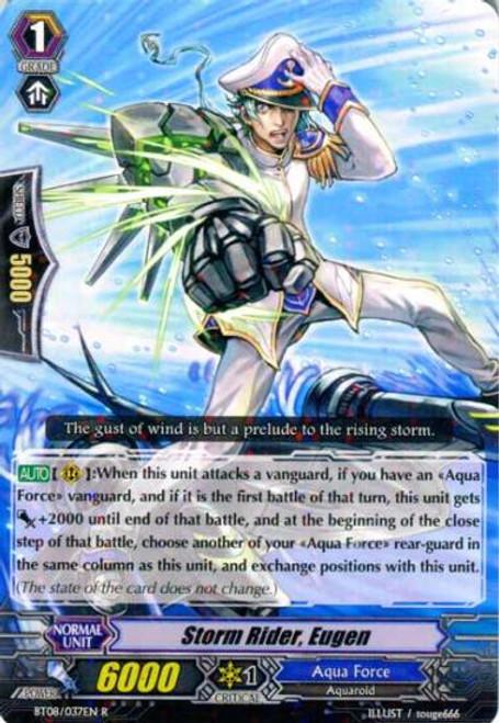 Cardfight Vanguard Blue Storm Armada Rare Storm Rider, Eugen BT08-037