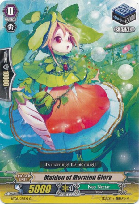 Cardfight Vanguard Blue Storm Armada Common Maiden of Morning Glory BT08-071