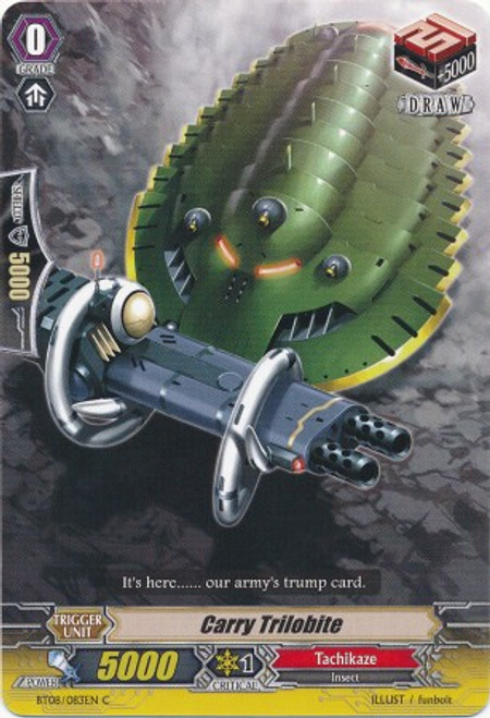 Cardfight Vanguard Blue Storm Armada Common Carry Trilobite BT08-083