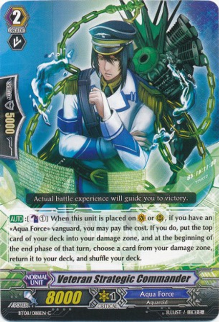 Cardfight Vanguard Blue Storm Armada Common Veteran Strategic Commander BT08-088