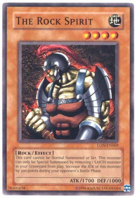 YuGiOh Labyrinth of Nightmare Common The Rock Spirit LON-069