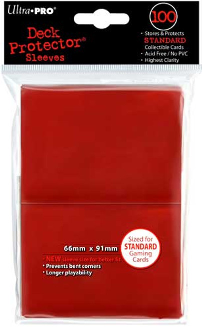 Ultra Pro Card Supplies Deck Protector Red Standard Card Sleeves [100 ct]