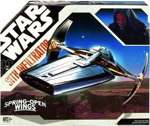Star Wars The Phantom Menace 2007 30th Anniversary Sith Infiltrator Action Figure Vehicle