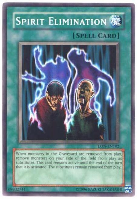 YuGiOh Labyrinth of Nightmare Common Spirit Elimination LON-102