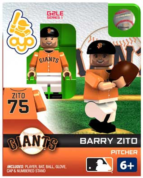 San Francisco Giants MLB Generation 2 Series 1 Barry Zito Minifigure