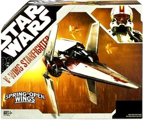 Star Wars Revenge of the Sith 2007 30th Anniversary V-Wing Fighter Action Figure Vehicle