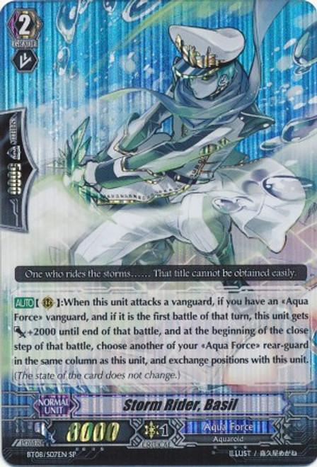 Cardfight Vanguard Blue Storm Armada SP Rare Storm Rider, Basil BT08-S07