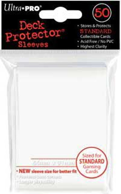 Ultra Pro Card Supplies Deck Protector White Standard Card Sleeves [50 ct]