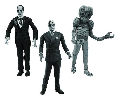 Universal Monsters Metaluna Mutant , Phantom of the Opera & Invisible Man Action Figure 3-Pack