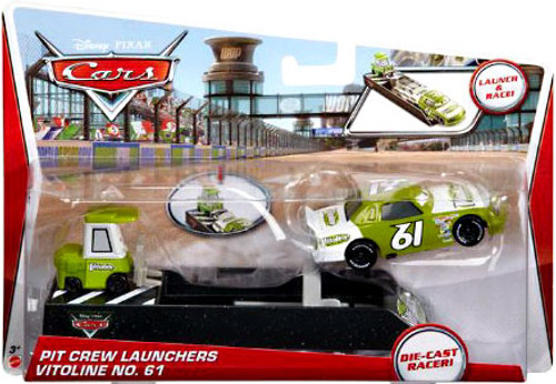 Disney Cars Pit Crew Launchers Vitoline No. 61 & Pitty Diecast Car [With Launcher]