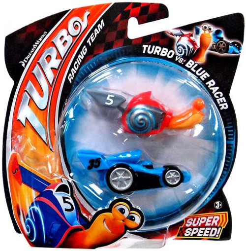 Turbo vs Blue Racer Vehicle 2-Pack