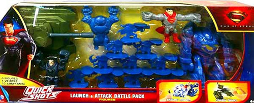 Superman Man of Steel Quick Shots Launch & Attack Battle Pack Exclusive Figure Set