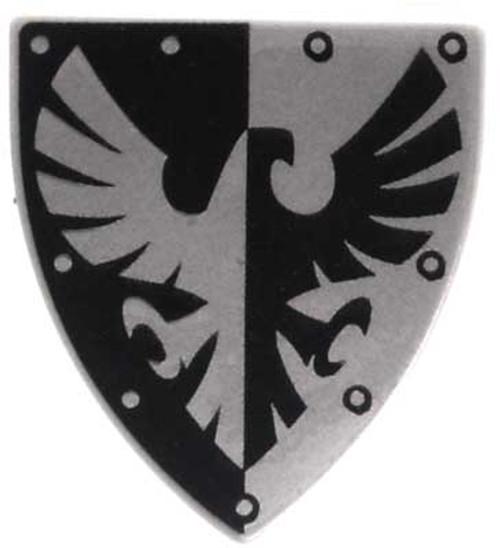 LEGO Castle Shields Small Black & Silver Eagle Shield [Loose]