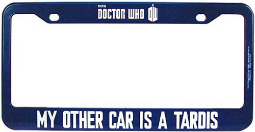 Doctor Who My Other Car is a Tardis License Plate Frame [Modern]