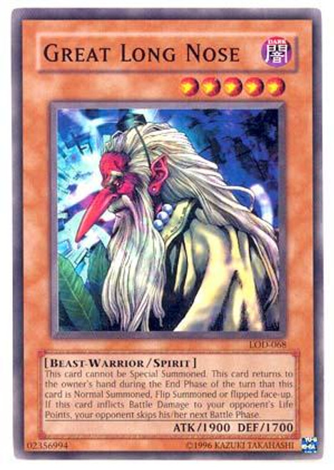 YuGiOh Legacy of Darkness Common Great Long Nose LOD-068