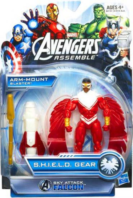 Marvel Avengers Assemble SHIELD Gear Sky Attack Falcon Action Figure