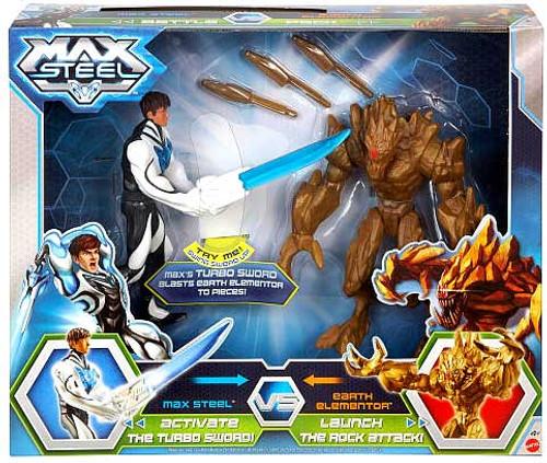 Max Steel Turbo Sword Max vs. Exploding Earth Elementor Battle Pack