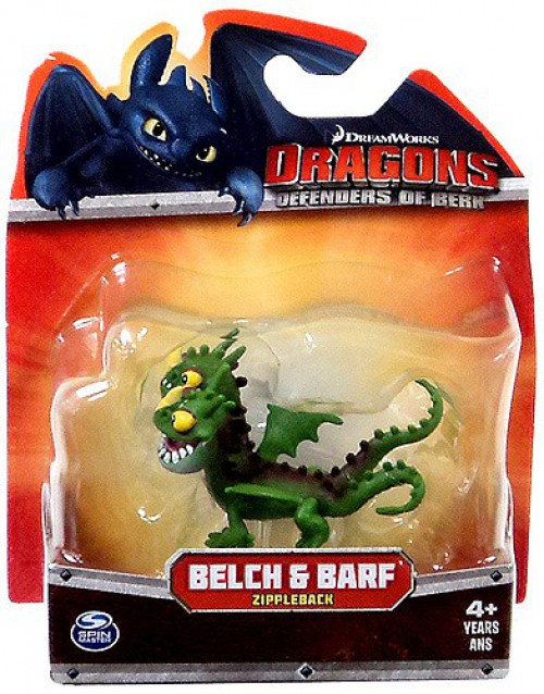 How to Train Your Dragon Dragons Defenders of Berk Belch & Barf 3-Inch Mini Figure [Green Zippleback]