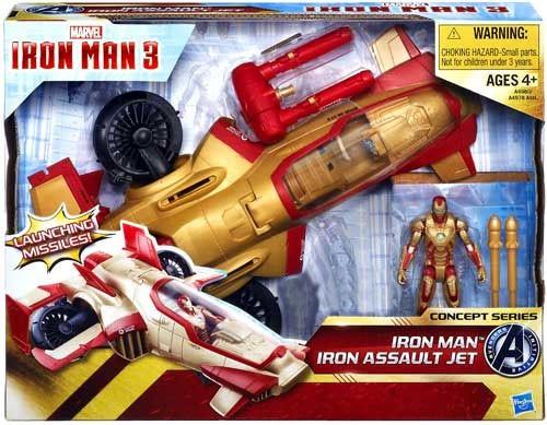 Iron Man 3 Concept Series Iron Man Iron Assault Jet Exclusive Action Figure Vehicle