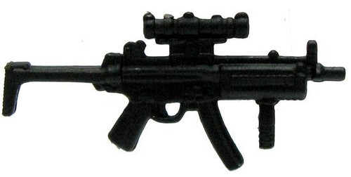 GI Joe Loose Weapons Submachine Gun with Sight & Wire Stock Action Figure Accessory [Black Loose]