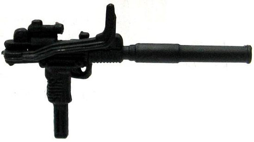 GI Joe Loose Weapons Uzi with Silencer & Folding Wire Stock Action Figure Accessory [Black Loose]
