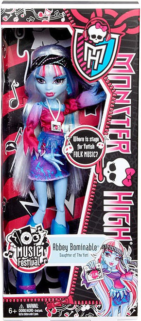Monster High Music Festival Abbey Bominable 10.5-Inch Doll
